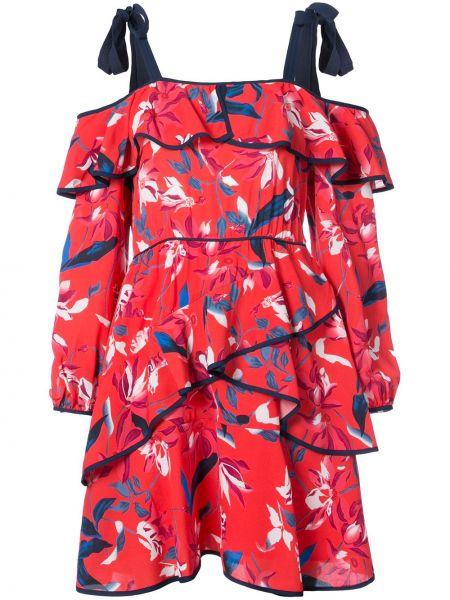 Платье миди с цветочным принтом шелковое Tanya Taylor