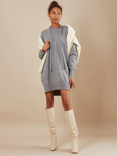 Платье с капюшоном шерстяное 12storeez