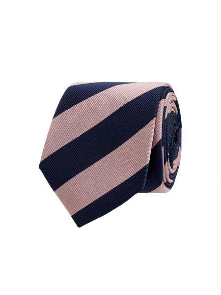 Różowy jedwab krawat wąskie cięcie z paskami wąskie cięcie Jake*s