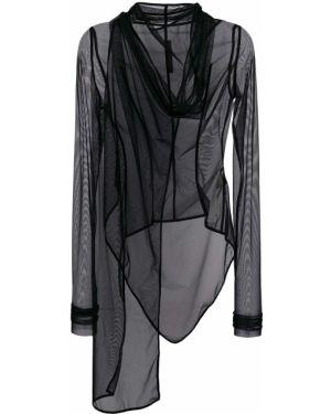Нейлоновая черная куртка Rick Owens Lilies