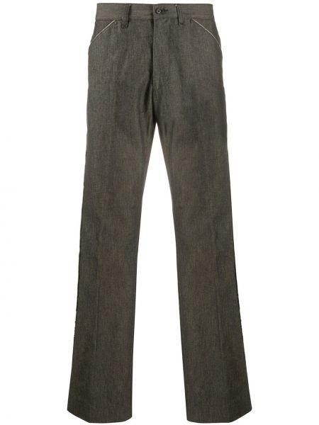 Хлопковые серые прямые прямые брюки на пуговицах Dolce & Gabbana Pre-owned