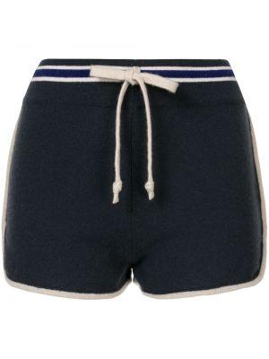 Синие кашемировые вязаные спортивные шорты Chanel Pre-owned
