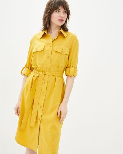 Платье рубашка - желтое Danna