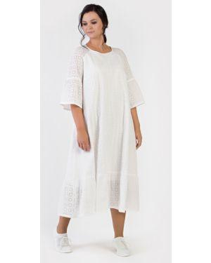 Повседневное батистовое летнее платье на пуговицах с рукавом реглан Filigrana