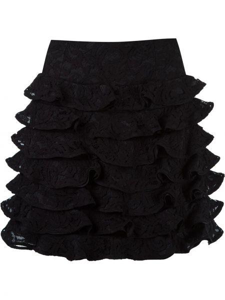 Ватная шелковая черная юбка Martha Medeiros