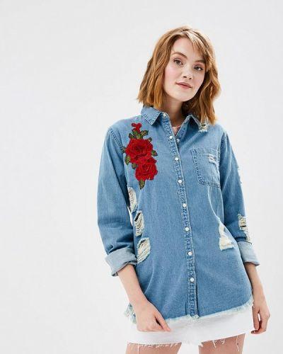 Синяя джинсовая рубашка Glamorous