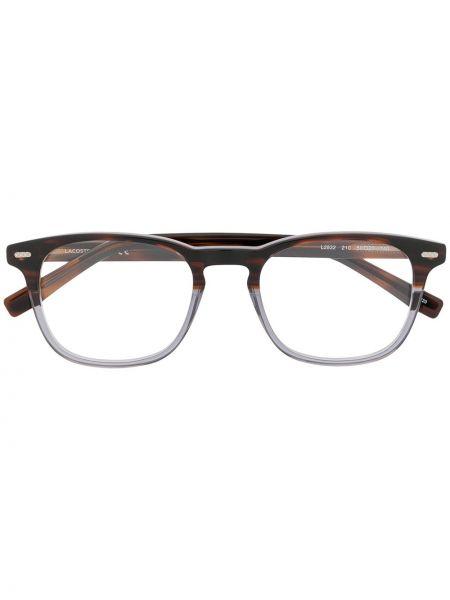 Prosto brązowy oprawka do okularów okrągły Lacoste