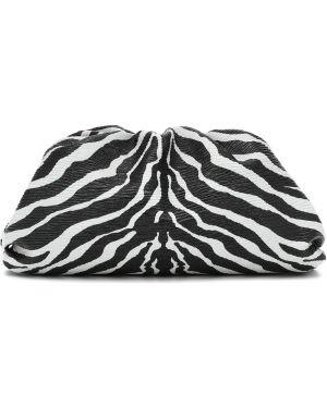 Кожаная сумка с леопардовым принтом черная Bottega Veneta