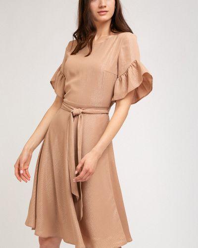 Вечернее платье короткое - бежевое Emka