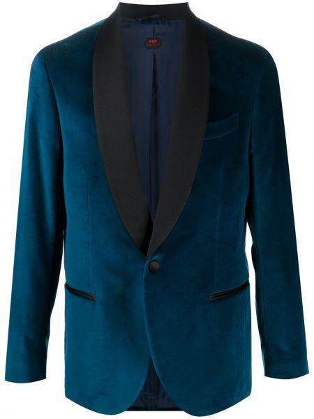 Niebieski garnitur bawełniany z długimi rękawami Mp Massimo Piombo