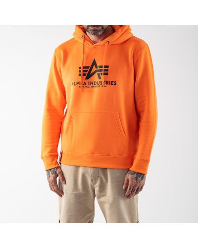 Базовая оранжевая кофта Alpha Industries