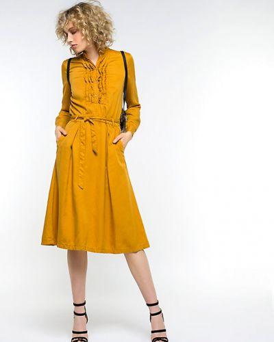 Коричневое платье весеннее Patrizia Pepe