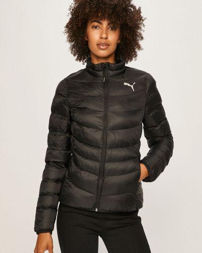 Черная нейлоновая стеганая куртка с запахом Puma