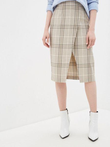 Клубная бежевая юбка карандаш с рукавом 3/4 Concept Club