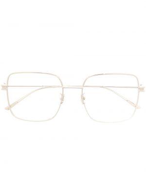 Прямые серебряные очки для зрения квадратные металлические Bottega Veneta Eyewear