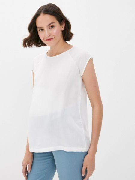 Блузка с коротким рукавом белая весенний Budumamoy