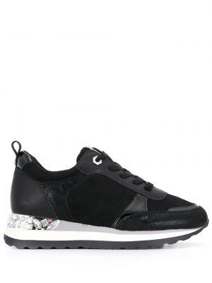 Skórzane sneakersy czarne zamszowe Carvela