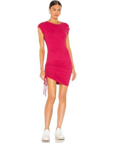 Платье рубашка - красное La Made