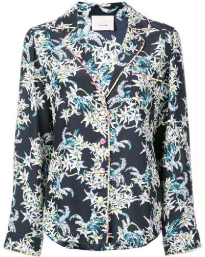 Блузка с длинным рукавом синяя Cinq A Sept