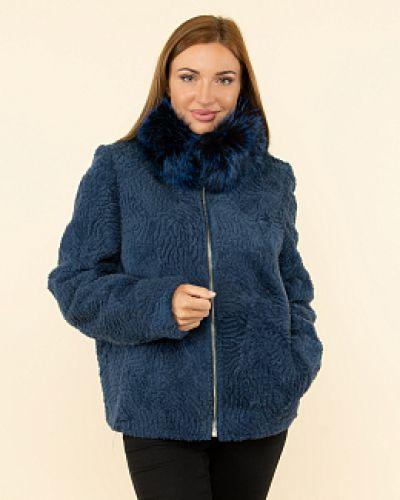 Синяя куртка с воротником каляев