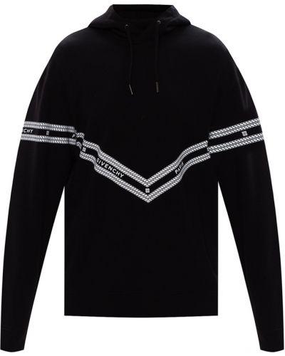 Czarna bluza z kapturem bawełniana Givenchy