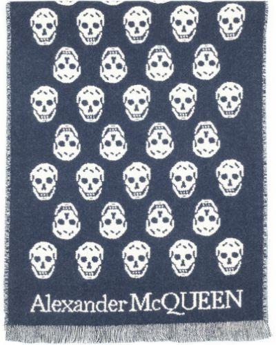 Szalik z frędzlami - biały Alexander Mcqueen