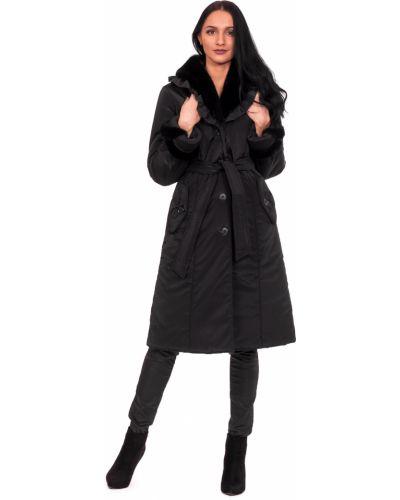 Пальто с поясом на синтепоне Lacywear
