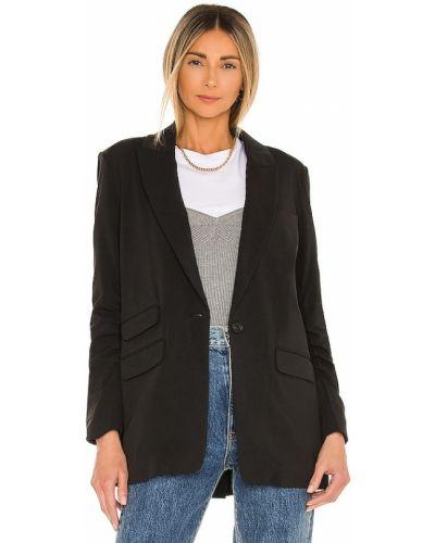 Ватная черная куртка с карманами Veronica Beard