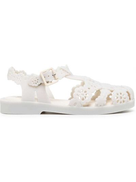 Брендовые белые сандалии на шнурках Viktor & Rolf