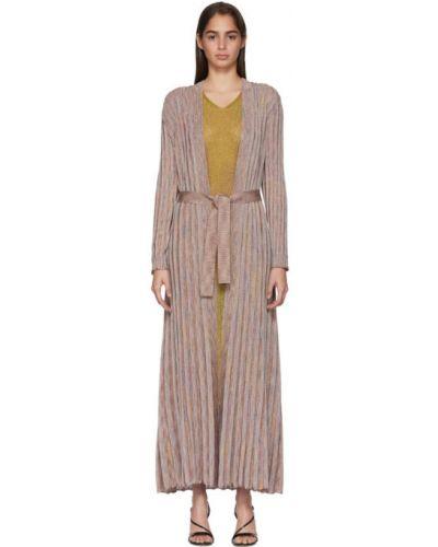 Платье макси в полоску плиссированное Missoni
