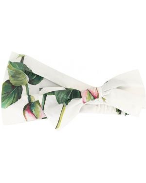 Biała bandana bawełniana z printem Dolce & Gabbana Kids