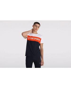 T-shirt bawełniany oversize krótki rękaw Le Coq Sportif