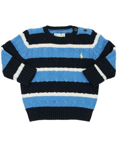 Bawełna sweter z kołnierzem z haftem Ralph Lauren