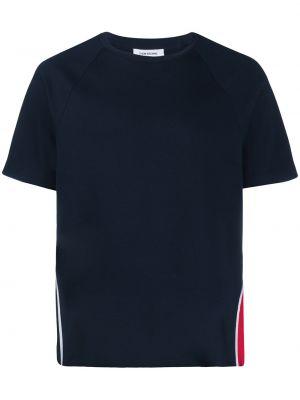 Koszula krótkie z krótkim rękawem z nadrukiem z paskami Thom Browne