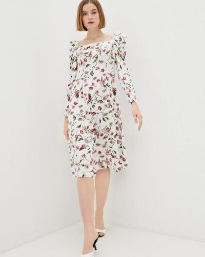 Белое платье с открытыми плечами M,a,k You Are Beautiful