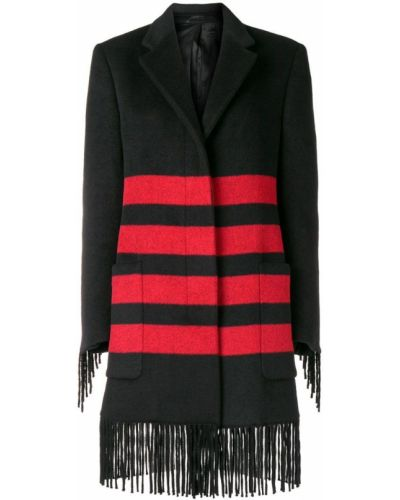 Шерстяное черное пальто с капюшоном Calvin Klein 205w39nyc
