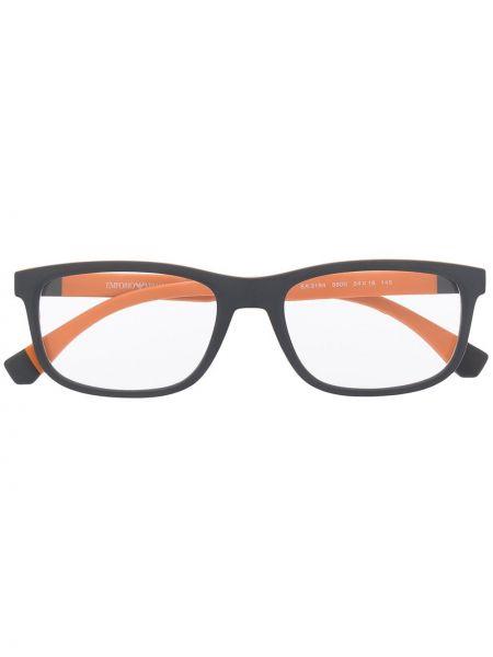Pomarańczowe okulary Emporio Armani