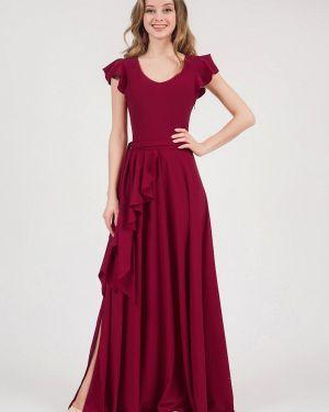 Вечернее платье бордовый красный Marichuell