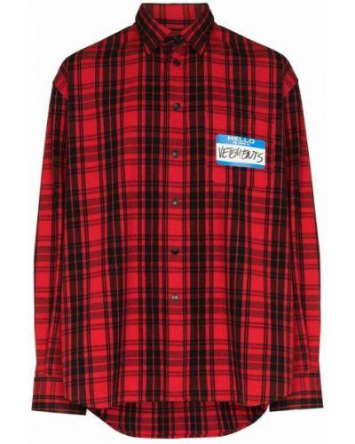 Czerwona koszula Vetements