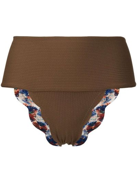 Пляжные коричневые бикини без застежки со вставками Marysia