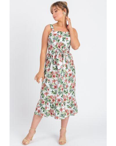 Платье с поясом розовое на бретелях Lacywear