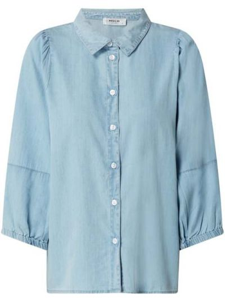 Niebieska bluzka bawełniana Moss Copenhagen