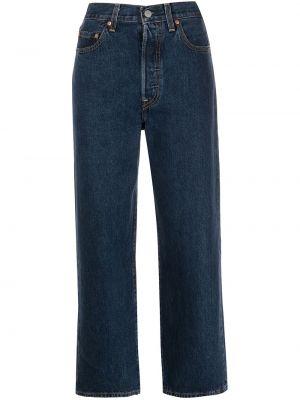 Прямые джинсы с завышенной талией - синие Levi's®