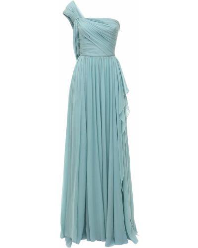 Шифоновое платье - голубое Elie Saab