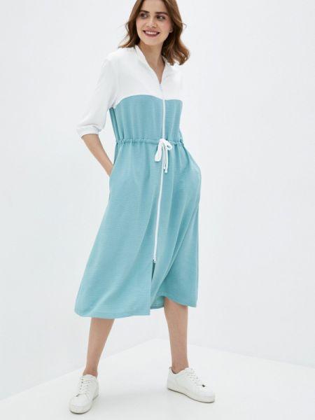 Повседневное платье бирюзовый весеннее Buono