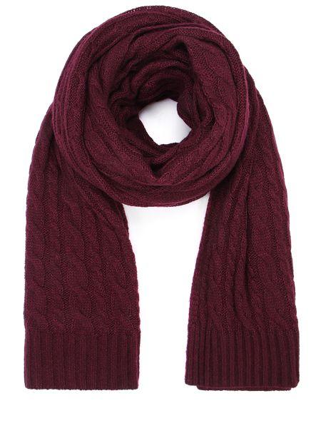 Шелковый классический бордовый шарф прямоугольный Malo
