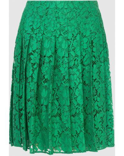 Зеленая юбка миди Prada