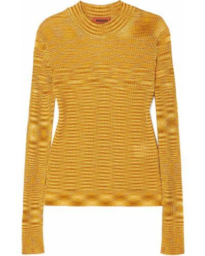 Облегченный свитер золотой из вискозы Missoni