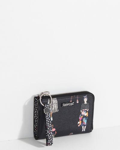 Кожаный кошелек черный Parfois
