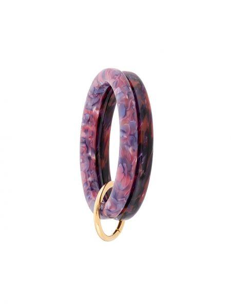 Фиолетовый золотой браслет Lele Sadoughi